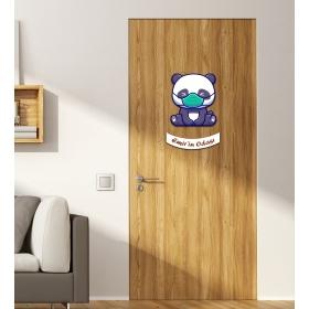 Ejoya Kişiye Özel Odası Maskeli Panda Kapı Süsü 93943