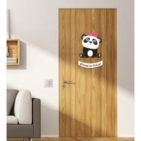 Ejoya Kişiye Özel Odası Oturan Panda Kapı Süsü 93945