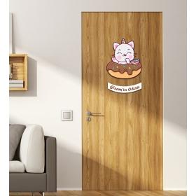 Ejoya Kişiye Özel Odası Kedi Donut Kapı Süsü 93946