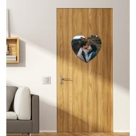 Ejoya Kişiye Özel Fotoğraflı Kalp Kapı Süsü 93953