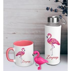 eJOYA Kişiye Özel Flamingo Pembesi Hediye Seti 94343