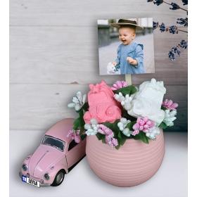 eJOYA Kişiye Özel Hoşgeldin Bebek Şirin Vosvos Aranjmanı 94499