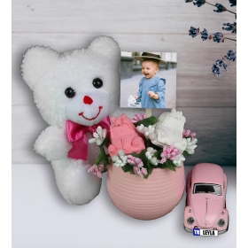 eJOYA Kişiye Özel Hoşgeldin Bebek Şirin Vosvos Hediye Seti 94502