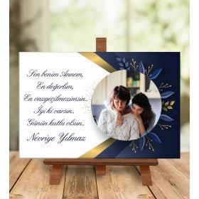 eJOYA Anneler Gününe Özel Fotoğraflı Masa Üstü Mesaj Kartı 94674