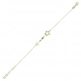 eJOYA 14 Ayar Altın Taşlı Yıldızlı Bileklik 97676