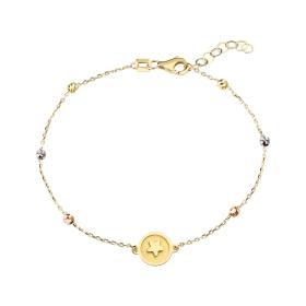 eJOYA 14 Ayar Altın Madalyon Yıldız Bileklik 97694
