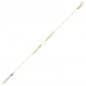 eJOYA 14 Ayar Altın Kalın Zincirli Kırlangıç Bileklik 97702