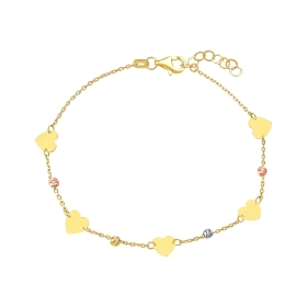 eJOYA 14 Ayar Altın Dorika Kalp Bileklik 97716