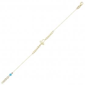 eJOYA 14 Ayar Altın Kalın Zincirli Kelebek Bileklik 97721