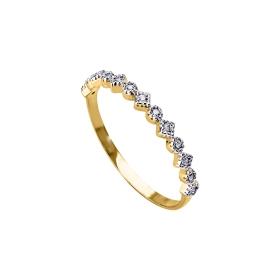 eJOYA 14 Ayar Altın Sıra Taşlı Yüzük 98095