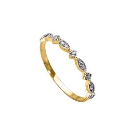 eJOYA 14 Ayar Altın Sıra Taşlı Yüzük 98096