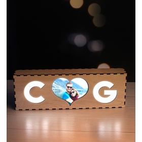 eJOYA Kişiye Özel Tasarım Fotoğraflı Masaüstü Gece Lambası 98149