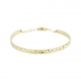 eJOYA 14 Ayar Altın Dövme Bileklik 98155