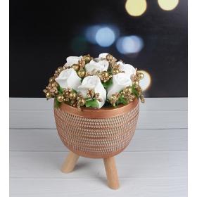 eJOYA Modern Saksıda Beyaz Güller Aranjmanı 98167