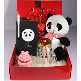 eJOYA Kişiye Özel Süslü Panda Hediye Paketi 98181