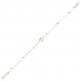 eJOYA 14 Ayar Altın Kalın Zincirli Oval Bileklik 98193