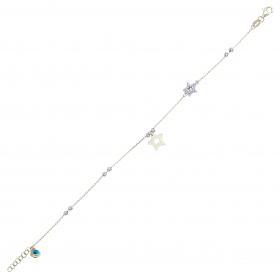 eJOYA 14 Ayar Altın Dorika Yıldız Bileklik 98302