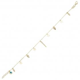 eJOYA 14 Ayar Altın Yıldız Tasarım Bileklik 98327