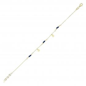 eJOYA 14 Ayar Altın Taşlı Pullu Bileklik 98372