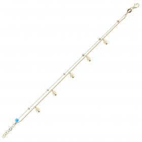 eJOYA 14 Ayar Altın Çift Zincirli Tasarım Bileklik 98376