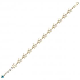 eJOYA 14 Ayar Altın Taşlı Yıldız Tasarım Bileklik 98460