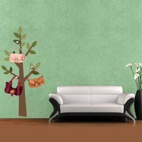Ağaç Askılık İlkbahar Duvar Sticker