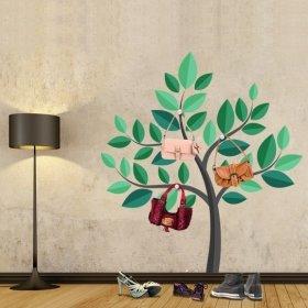 Ağaç Askılık Yeşil Büyük Ağaç Duvar Sticker
