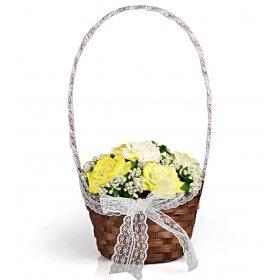 eJOYA Bahar Gülleri Sepet Aranjmanı - Sarı