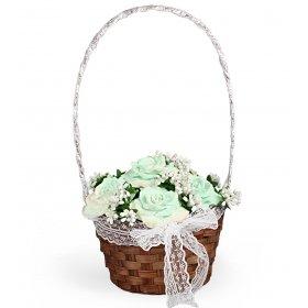 eJOYA Bahar Gülleri Sepet Aranjmanı -Yeşil