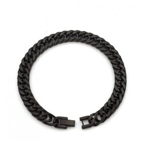 eJOYA Erkek Siyah Zincir Bileklik 8 mm