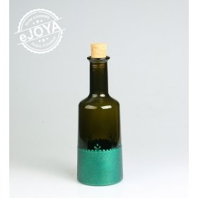 eJOYA Gifts  Dekoratif Şişe Simli Yeşil