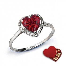 eJOYA Özel Kalp Hediye Kutusunda Kalp Yüzük