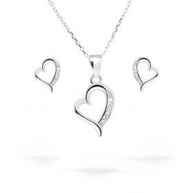 eJOYA Zircone Taşlı Kalp Gümüş Takım UCLRT331