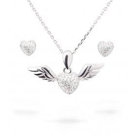 eJOYA Zircone Taşlı Gümüş Kalp Takım UCLRT333