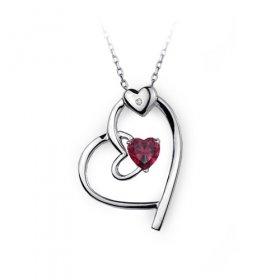 eJOYA Canım Aşkım Kalp Pırlanta Kolye