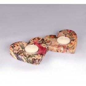 eJOYA Gifts Tealight Kokulu Taş Kalpler Mumluk - Melekler