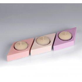 eJOYA Gifts Tealight Kokulu Taş Üçlü Mumluk