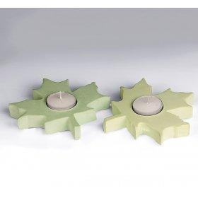 eJOYA Gifts Tealight Kokulu Taş Yapraklar - Yeşil