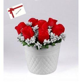 eJOYA  Kırmızı Güller Sabun Aranjmanı
