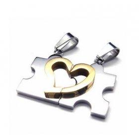 eJOYA Puzzle Kalp Çelik Kolye