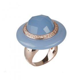 eJOYA Quartz Taşlı Gümüş Şapka Yüzük