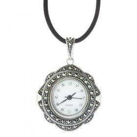 eJOYA Saat Gümüş Kolye