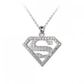 eJOYA Superman Gümüş Kolye