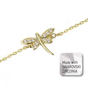 eJOYA Swarovski Yusufçuk Altın Bileklik