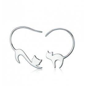 eJOYA Tasarım Kediler Gümüş Küpe