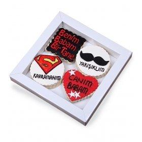 Happy Cookies Kahraman Babam Kurabiye Kutusu