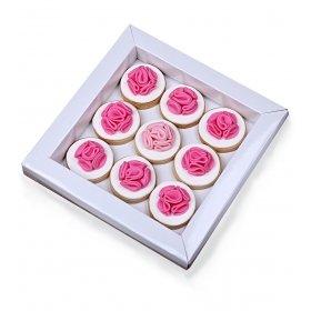 Happy Cookies Pembe Çiçekler Kurabiye Kutusu