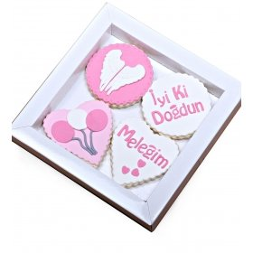 Happy Cookies İyiki Doğdun Meleğim Kurabiyeleri