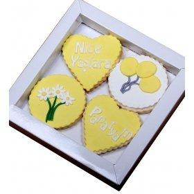Happy Cookies Doğum Günün Kutlu Olsun Papatyam Kurabiyeleri