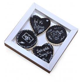 Happy Cookies İyiki doğdun Yakışıklı Sevgilim Kurabiyeleri